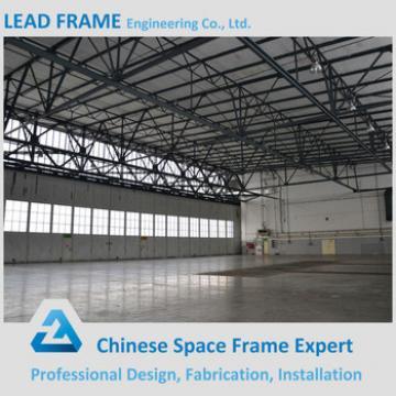 Long span steel aircraft hangar for maintenance shop