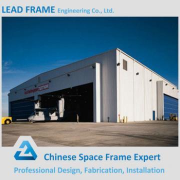 Light weight steel frame airplane hangar