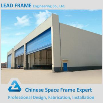 Long span space frame structure aircraft hangar