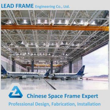 Prefabricated steel structure aircraft hangar building truss roof