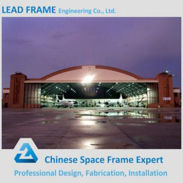 Economical steel space frame prefabricated hangar for plane