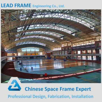 Economic metal roof structure for long span hall design