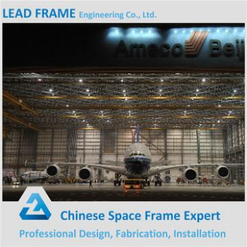 prefab cost-effective space frame aircraft hangar