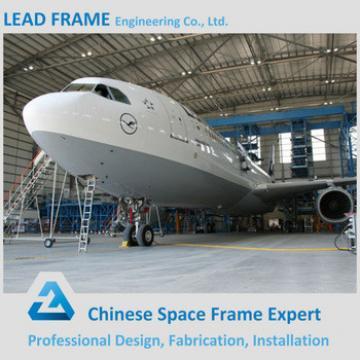 High Rise Metal Steel Truss Structure Prefab Aircraft Hangar Building