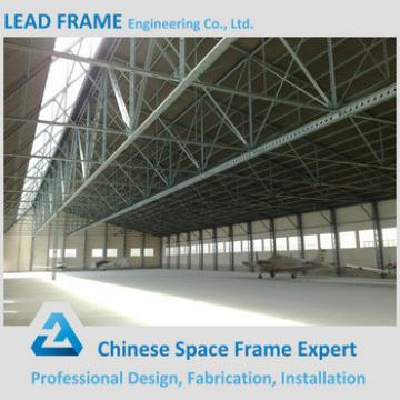 Wind-proof prefabricated steel structure aircraft hangar