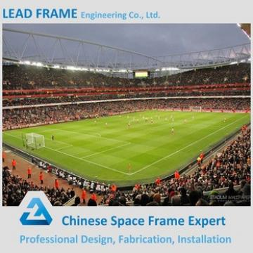 high standard prefabricated curved roof stadium
