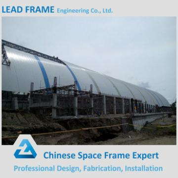 High quality prefabricated arch steel building barrel coal shed