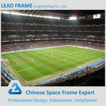 Long Span Prefab Space Frame Stadium Bleacher Lightweight Steel Vaulted Roof