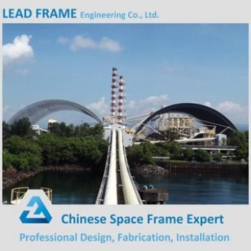 Economic Steel Space Frame Structure for Semicircular Coal Yard Storage