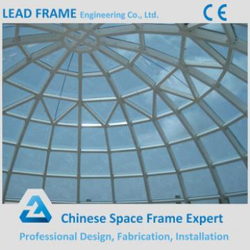 Prefab space frame dome glass roof with metal structure