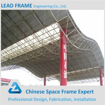 Antirust steel space truss structure for metal roof