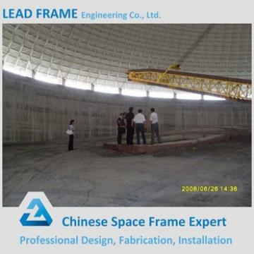 Prefab Steel Space Frame Geodesic Dome Coal Storage Shed