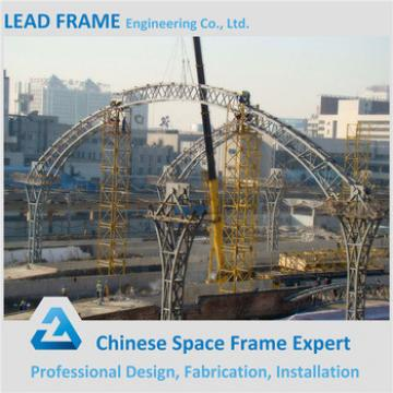 long span prefabricated space frame arched roof truss