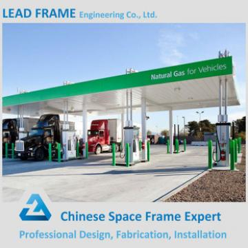 Lightweight space frame structure petrol station design