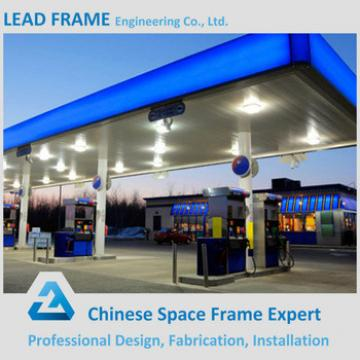 Long span space frame system petrol station design