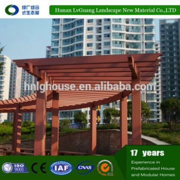Recycled backyard outside hollow composite wpc decking pergola roof