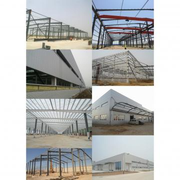 Prefab space frame gymnasium construction with metal roof