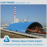 Prefabricated steel space frame building for coal storage