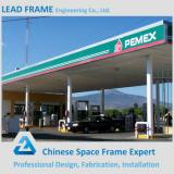 Galvanized steel space frame petrol station design