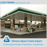 Galvanized steel space frame structures construction petrol station design