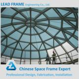 Light steel space frame glass atrium roof