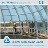China Supplier Large Size Space Grid Steel Structure Roof Skylight Covers
