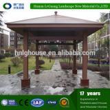 Dampproof Eco-friendly wpc wood gazebo