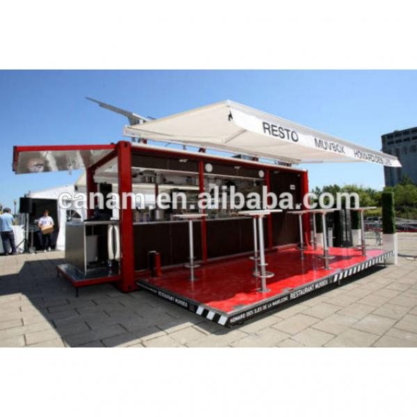 fully furnished shipping container coffee shop for mobile cafe bar design #2 image