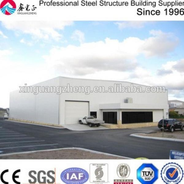 large span prefabricated building system hangar steel structure #1 image