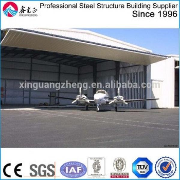large span steel prefabricated metal airplane hangar building #1 image