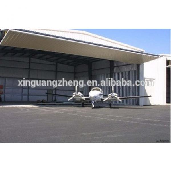 Prefab steel structure hangar for aircraft #1 image