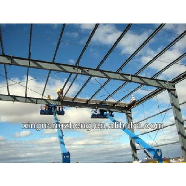 prefabricated airplane hangar steel structure food workshop factory #1 image