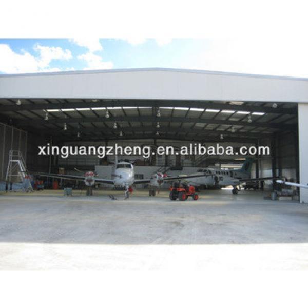 Prefabricated steel frame aircraft Hangar #1 image