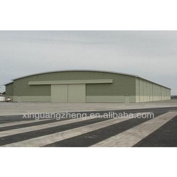 prefabricated steel structure aircraft hangar with metal frame #1 image