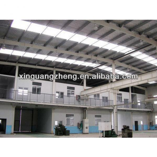 large span two story fabricated light steel frame structure aircraft hangar #1 image