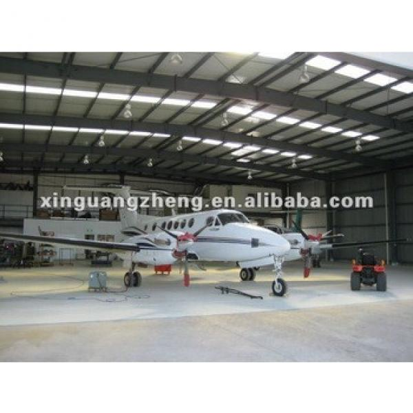light prefabricated construction steel structure aircraft hangar design #1 image