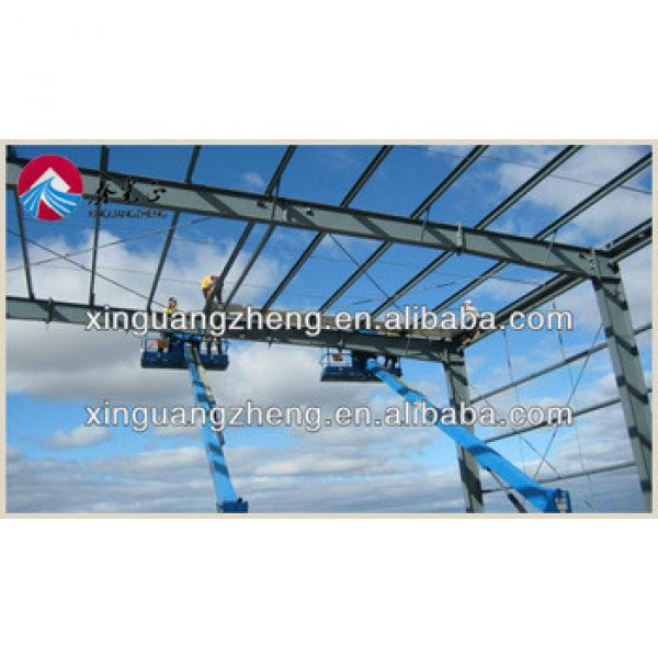 low cost prefab lightweight steel frame structure hangar #1 image