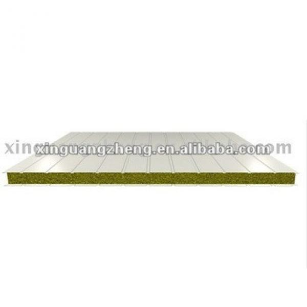 V-1150mm style glass wool Sandwich Panel for roofing /warehouse /prefab house home/building project #1 image