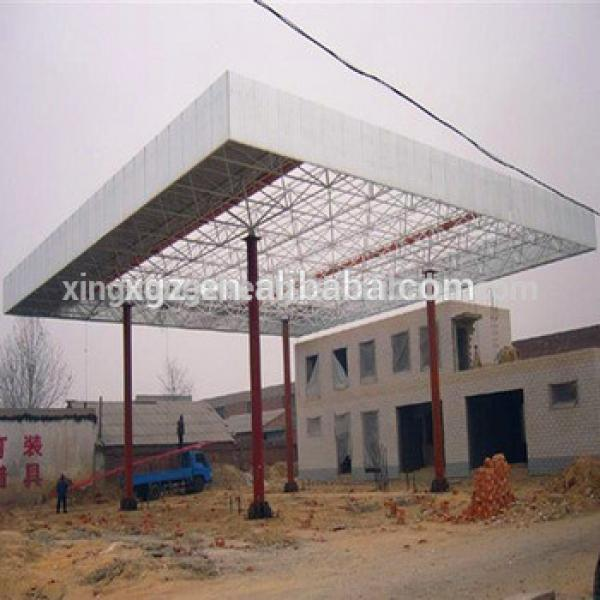 Space Frame Steel Structure Petrol Station Construction #1 image