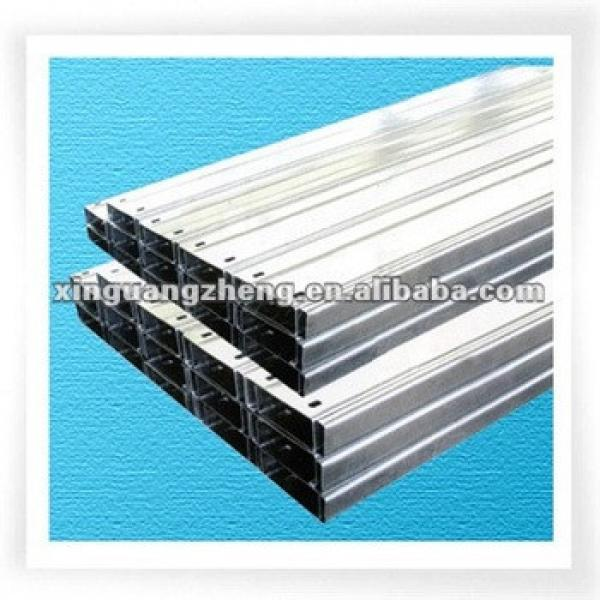 Metal roof purlin Z steel beam Z section steel for prefabricated warehouse /steel building/poutry shed /garage #1 image