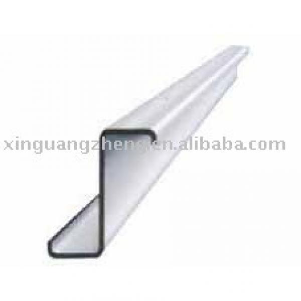 galvanized sheet and roof purlin Z steel beam Z section steel for prefabricated warehouse /steel building/poutry shed /garage #1 image