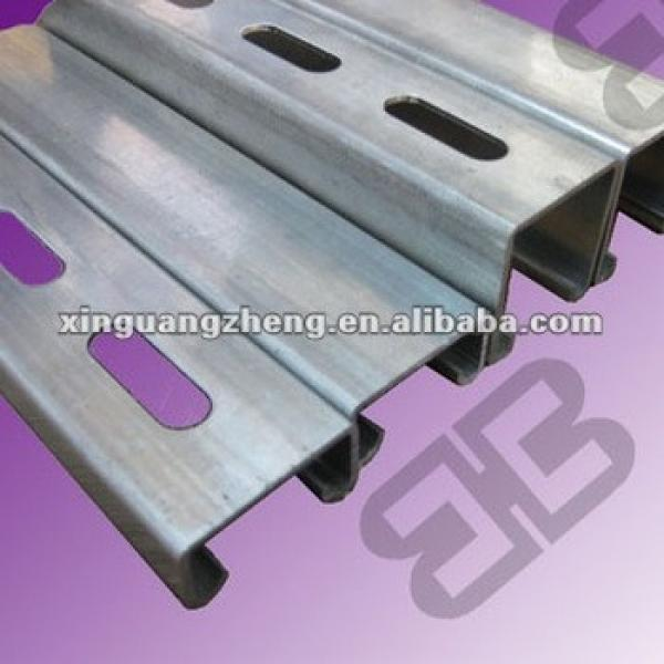 galvanized purlin Z steel beam Z section steel for prefabricated warehouse /steel building/poutry shed /garage #1 image