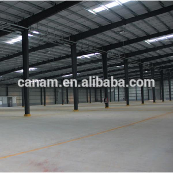 Prefabricated metal steel structure shed/godown design in shan dong china #1 image