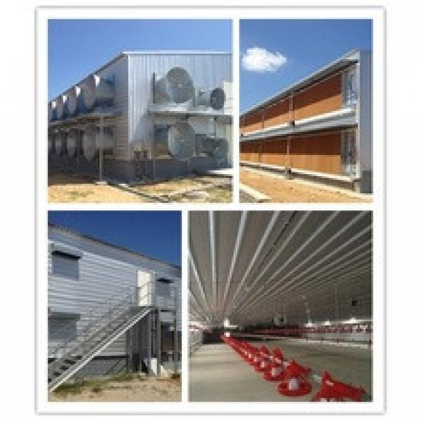 whole low cost prefabricated poultry farming chicken hen building with equipment #1 image