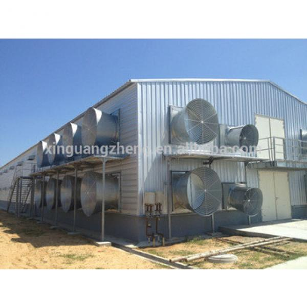 steel poultry shed building/steel structural prefab poultry house supplier in Qingdao #1 image