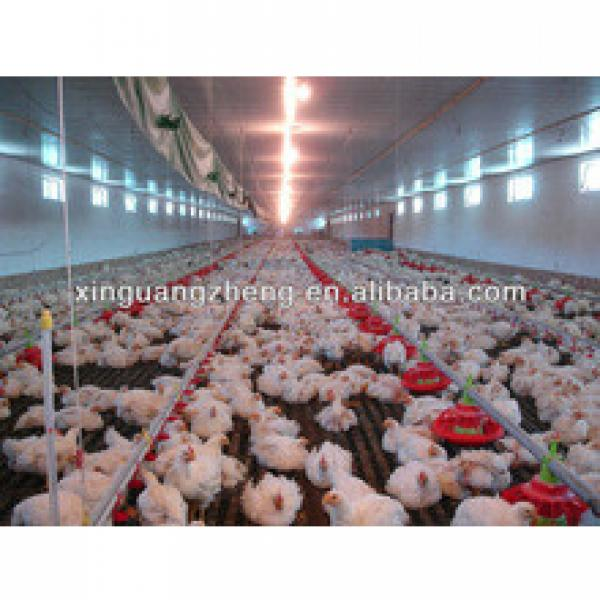 whole low cost light frame steel structure broiler/layer poultry house farm shed #1 image