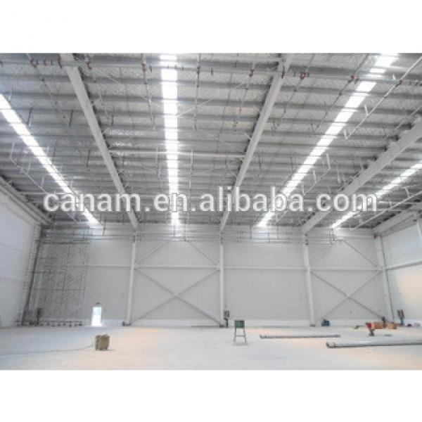 Steel structure warehouse, workshop with sandwich panel roof and wall #1 image