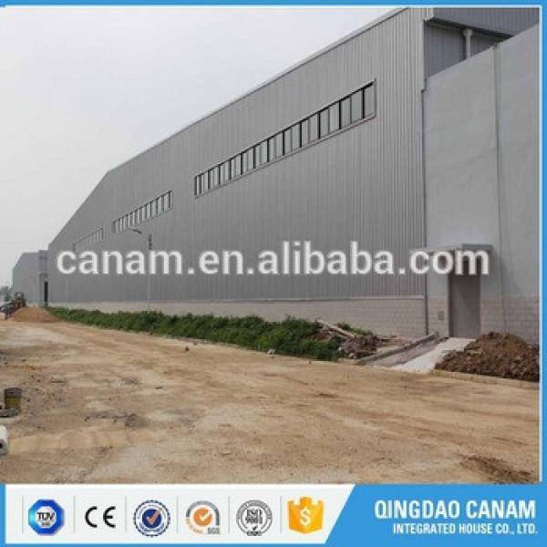 Hot selling prefabricated workshop storage steel structure warehouse building by steel beam #1 image