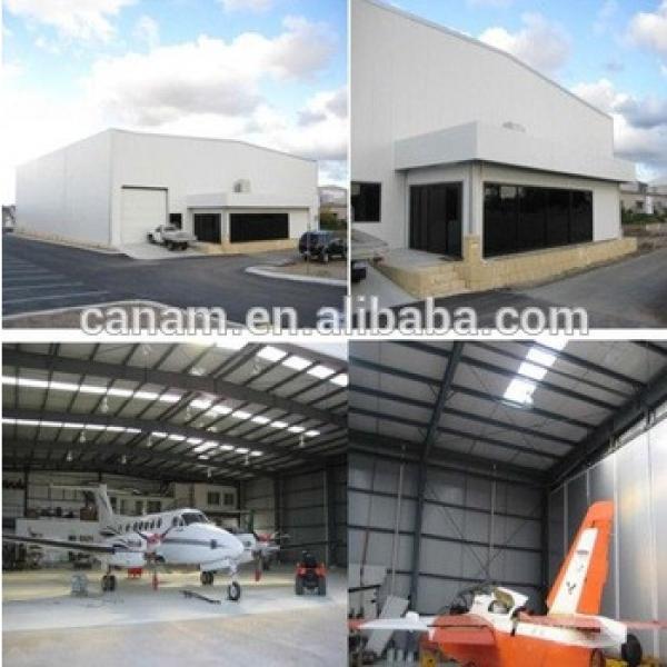 modern design Prefabricated steel structure hangar #1 image