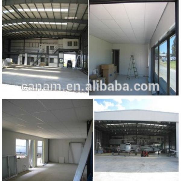 Pre Engineered small steel structure hangar prefab warehouse #1 image